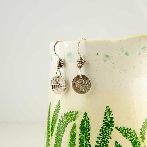 Silver Small Fern Earrings