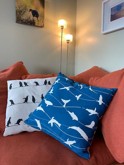 Ocean creatures cushion cover