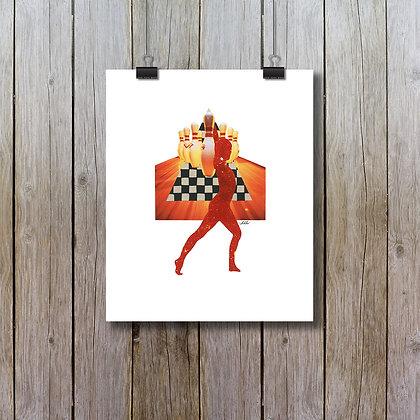 Disco bowling ! - sur papier beaux-arts