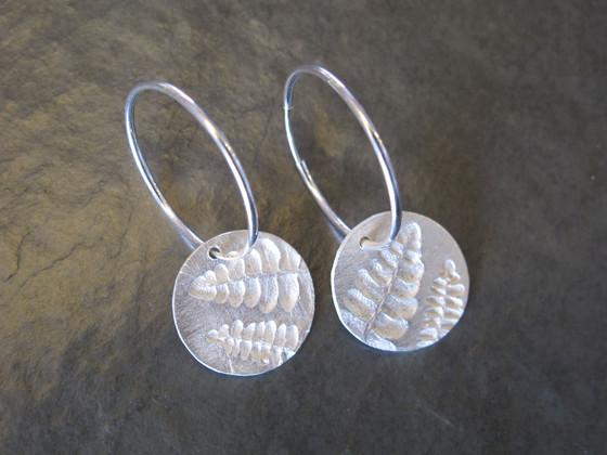 Small Fern Hoop earrings