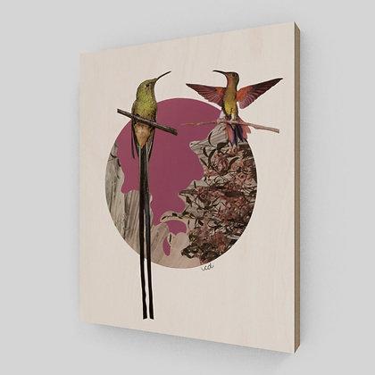 De la poésie avec des ailes - Sur bois