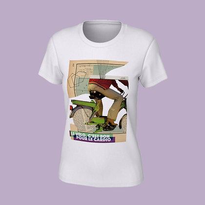 T-Shirt femme - Le vélo, c'est bon pour le cardio