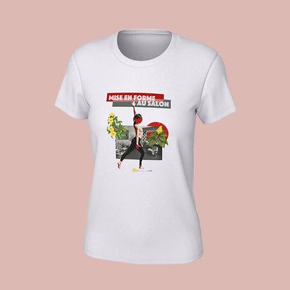 T-Shirt femme - Mise en forme au salon