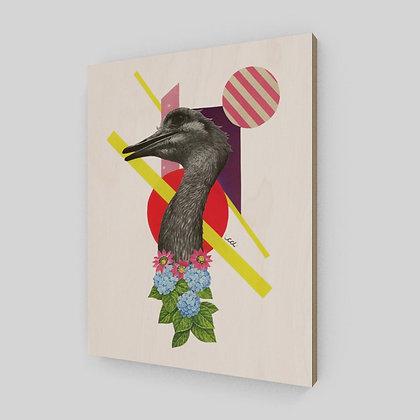 Cet oiseau est un nandou - Sur bois