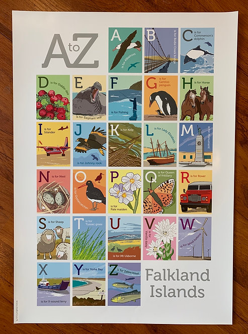 A-Z of the Falkland Islands poster
