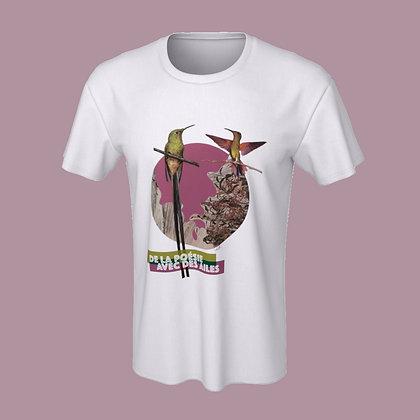 T-shirt (unisex) - De la poésie avec des ailes