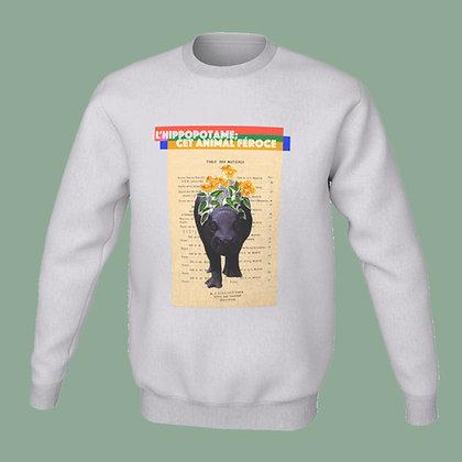 Coton ouaté (unisex) - L' hippopotame, cet animal féroce