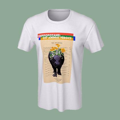 T-Shirt (unisex) - L'hippopotame, cet animal féroce