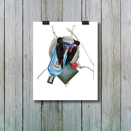 Apéro entre vieilles connaissances - Sur papier beaux-arts