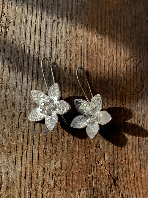 Flower ear rings