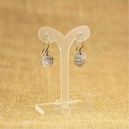 Silver small fern imprint Earrings