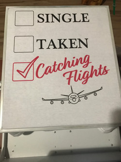 catching flights
