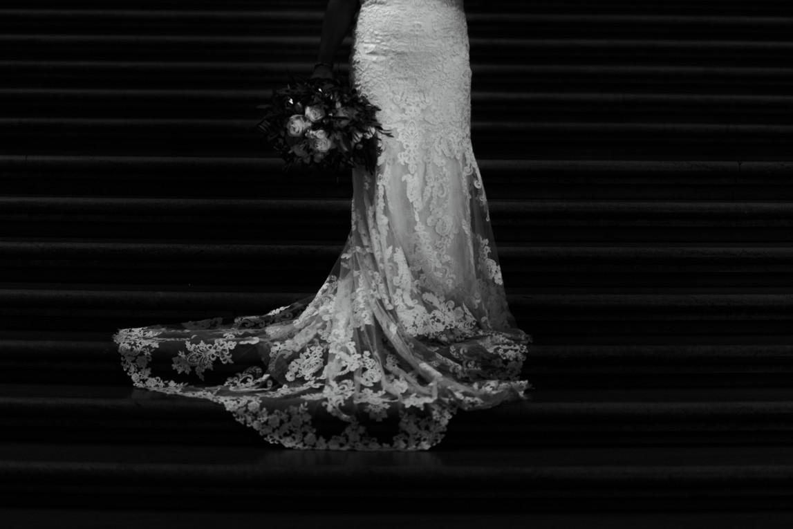 City Hall Bridal Wedding Dress
