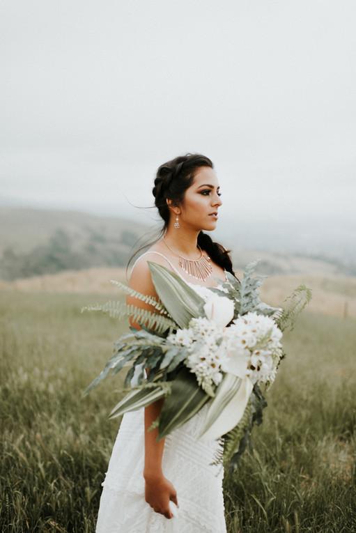 Hilltop Bridal Portrait