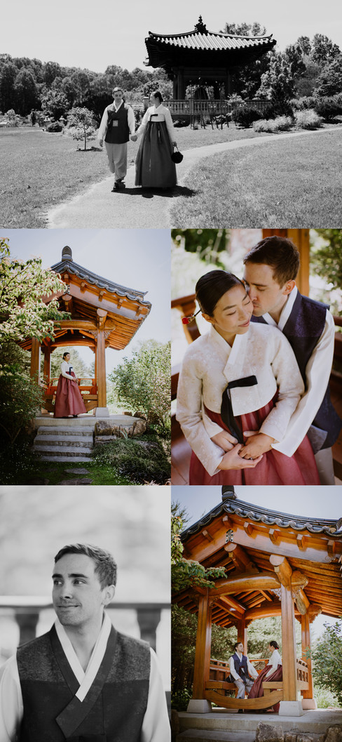 A+J | Virginia Engagement Session; Korean Bell Tower