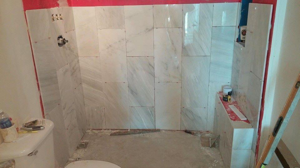 Guest Bath Marble Tile
