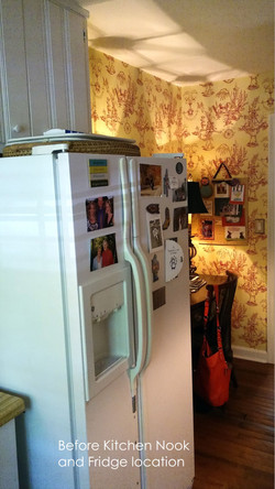 """Old Fridge Location and """"Work Space"""""""