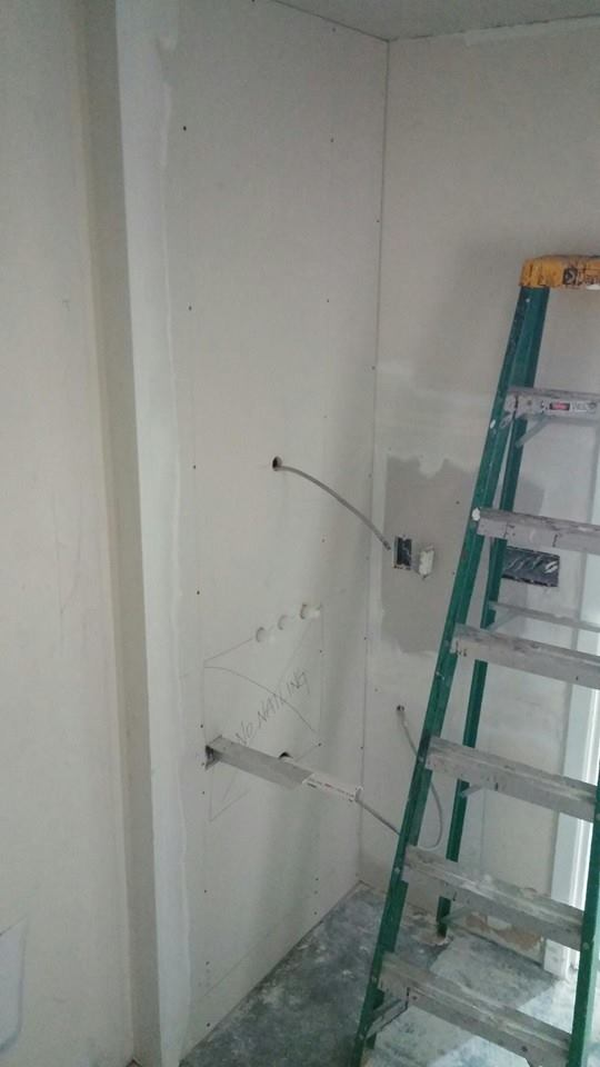 Prepwork for wall mounted fixtures