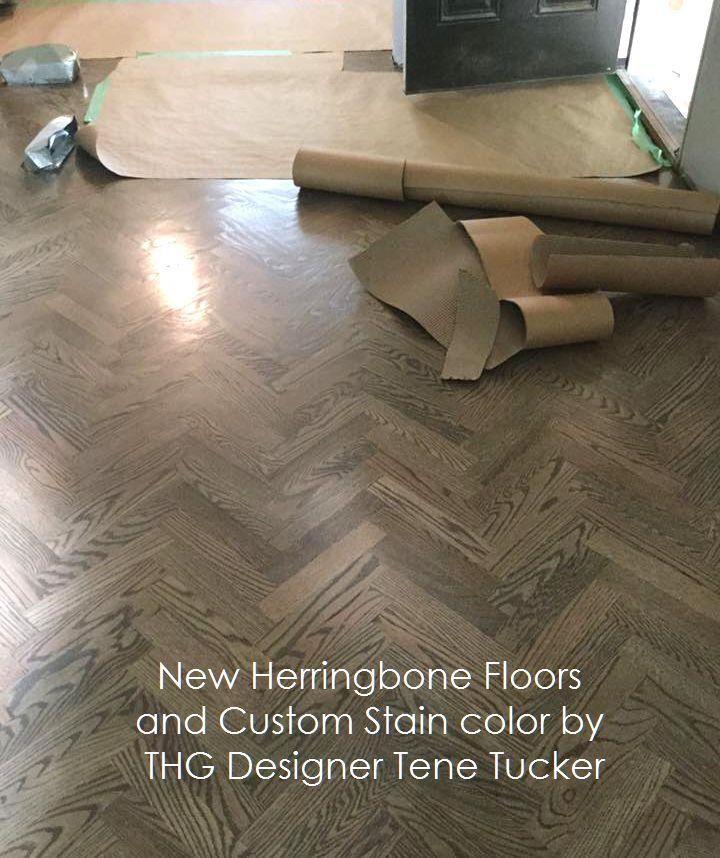 New Herringbone and Stain floors