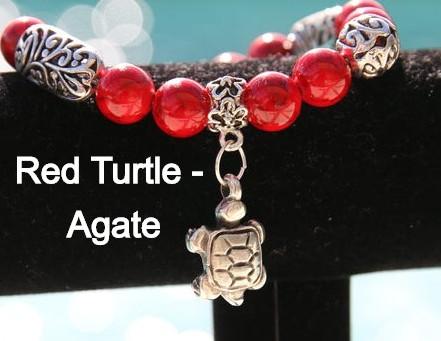 Gemstone Charm Stretch Bracelets