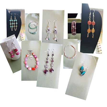 Picture showing a collection of beaded jewelry.