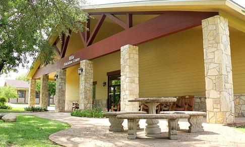 Ellis Education Building Front Porch | Glen Lake Camp and Retreat Center