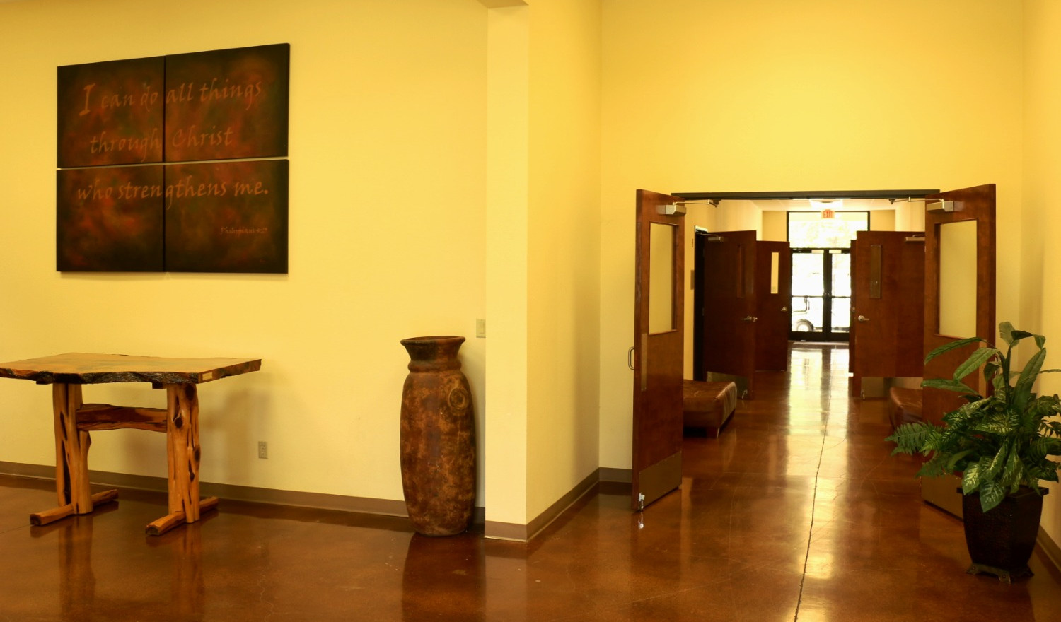 Ellis Education Building Foyer | Glen Lake Camp and Retreat Center | Central Texas