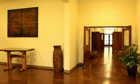 Ellis Education Building Foyer | Glen Lake Camp and Retreat Center | Central Texas