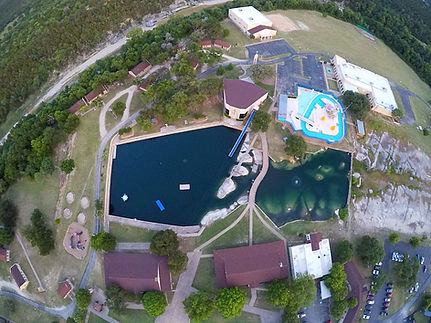 Glen Lake Camp & Retreat Center | Guest Retreats | Summer Camp | Central Texas | Christian Camp | Areial View | Facilities