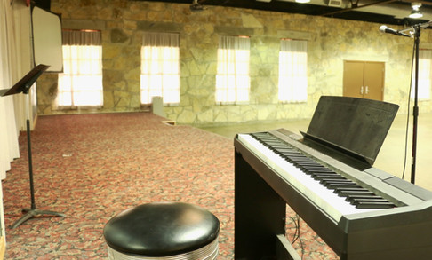 Siceloff Piano on Stage | Glen Lake Camp and Retreat Center