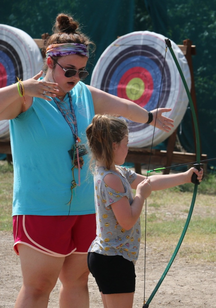 Archery Instruction at Summer Camp