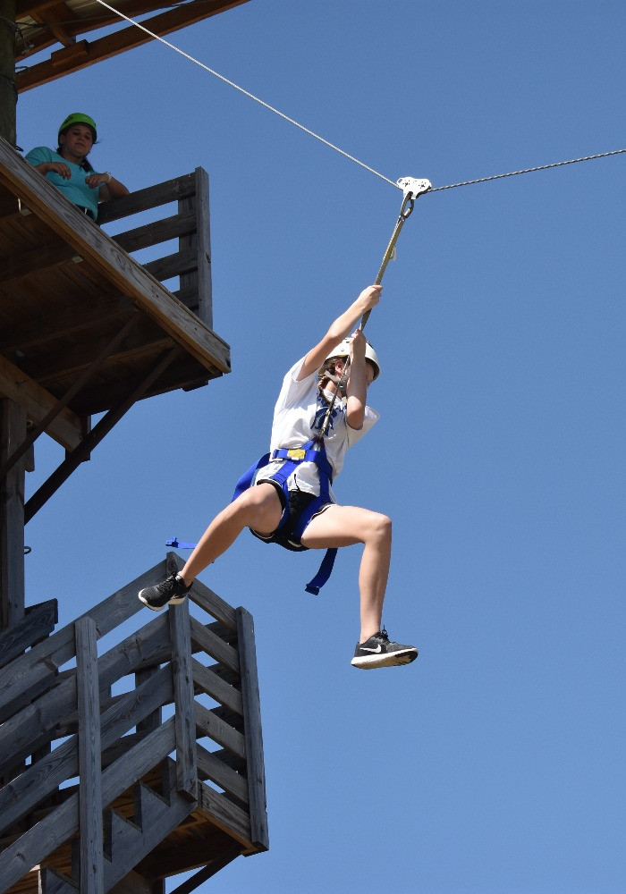 Zip Line at Summer Camp
