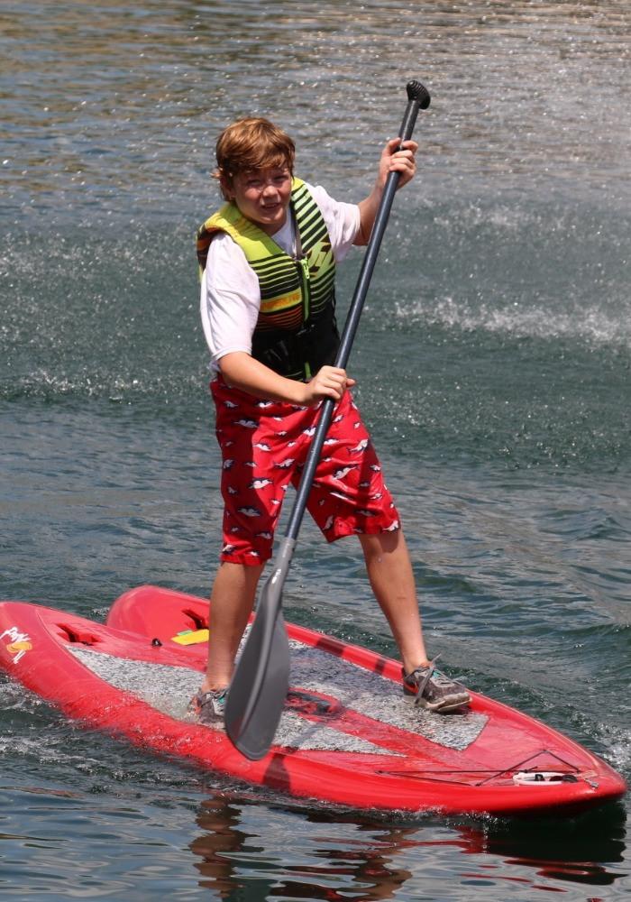 Paddleboards at Glen Lake Camp