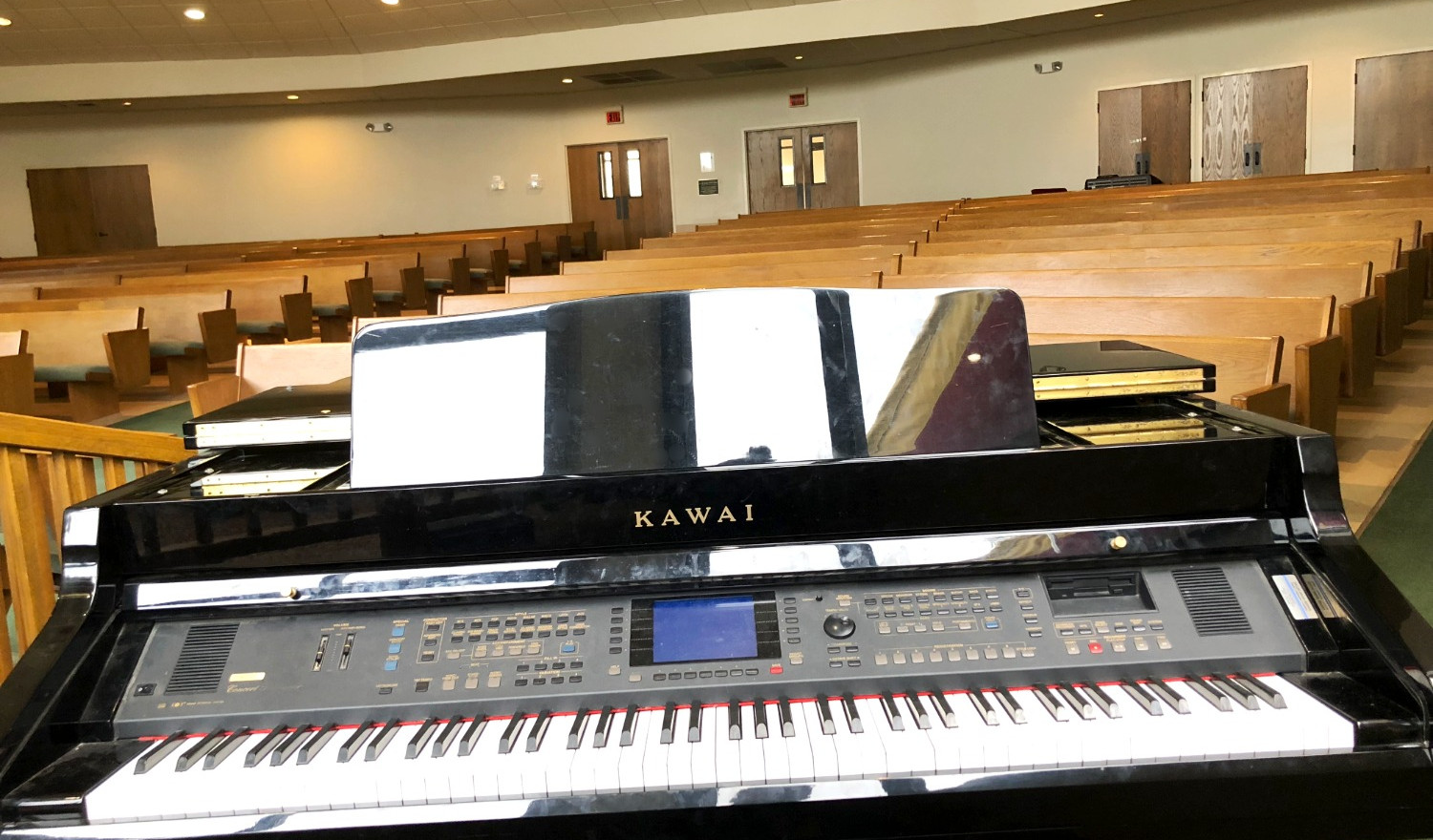 Ogle Chapel Electric Grand Piano | Glen Lake Camp and Retreat Center