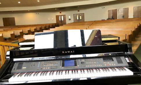 Ogle Chapel Electric Grand Piano | Glen Lake Camp and Retreat Center