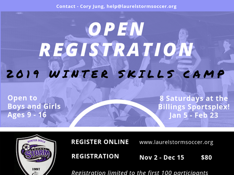 Winter Skills Camp Registration is Now Open!!!
