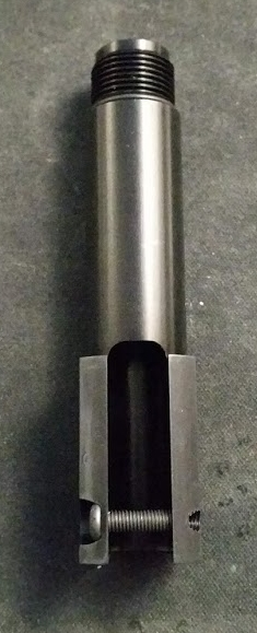 This shows the bottom of the outer barrel and the cross screw used to secure it to the hop assembly.