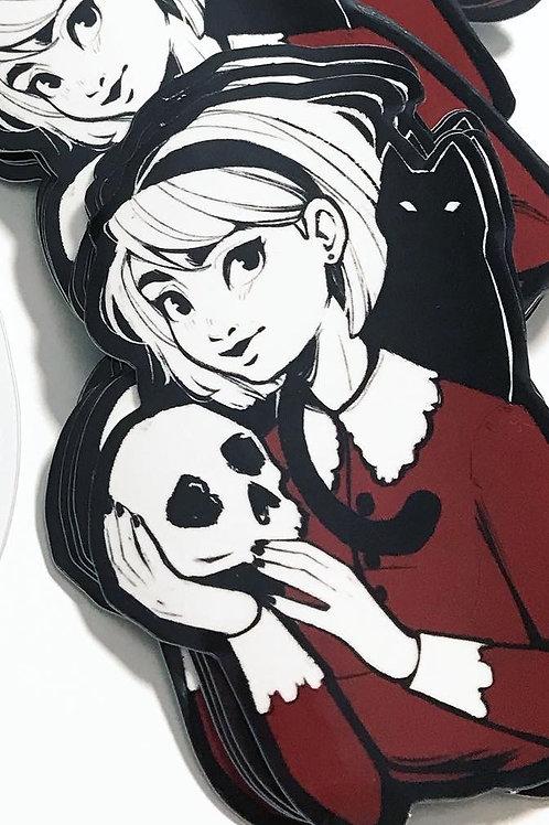 Sabrina and Salem Sticker