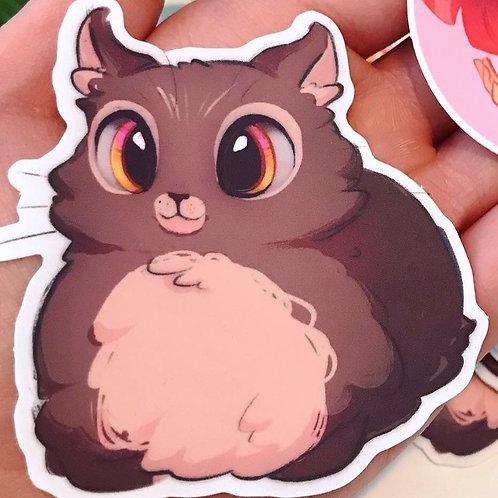 Owl Cat Vinyl Sticker