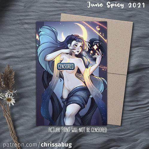 Nyx, Goddess of Night (Spicy Variation) (Small Print)