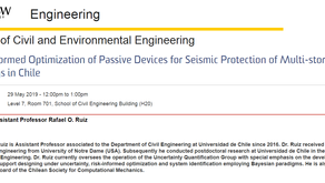 Prof. Rafael Ruiz talked in UNSW about the design of  seismic protection devices for buildings