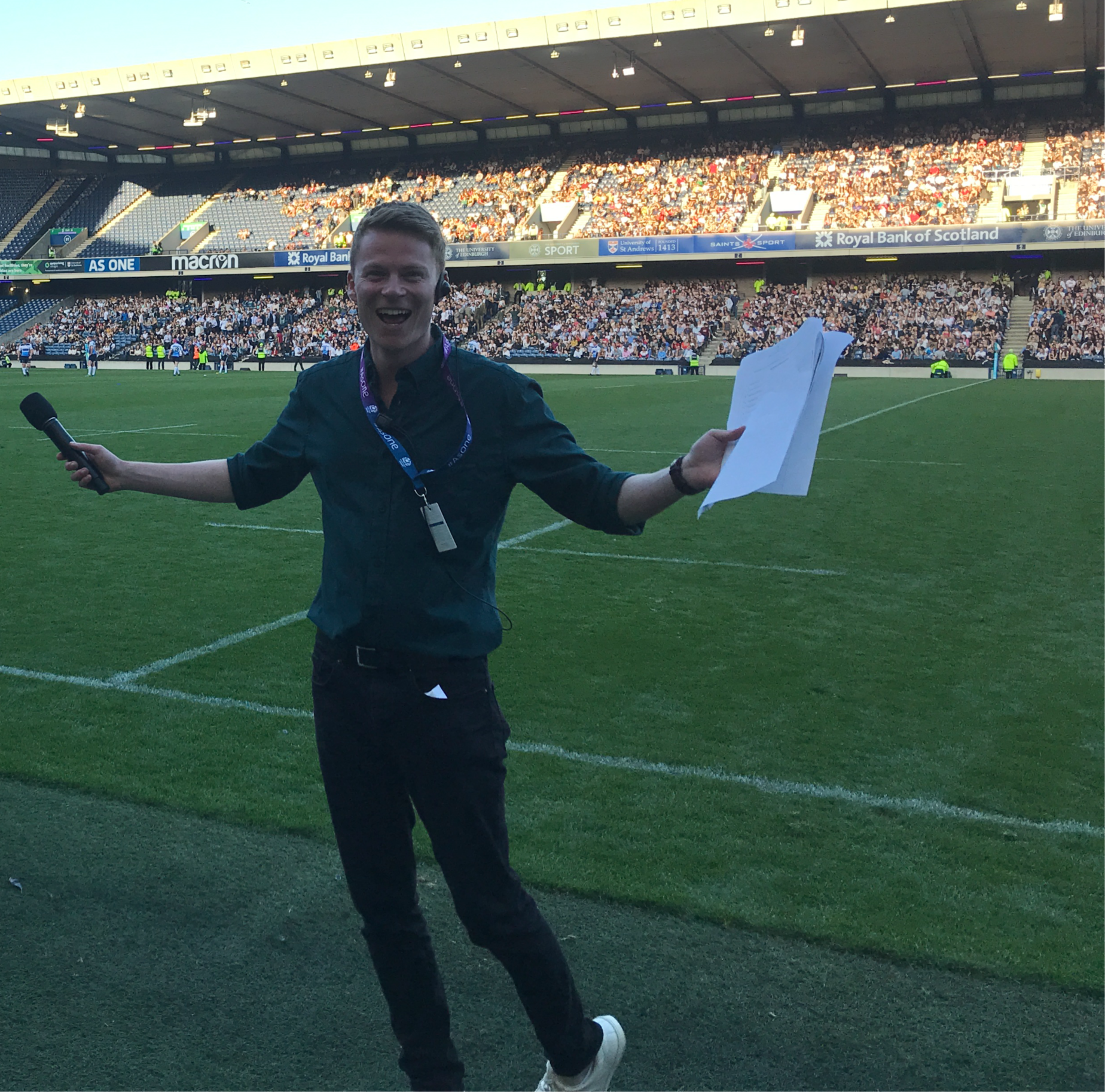 Presenting at BT Murrayfield
