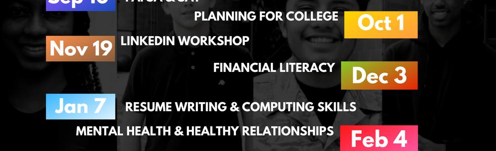 Monthly online workshops