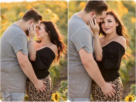 Franki + Zach = Engaged – Yukon, OK - Photos by Keshia