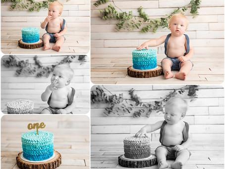 Cake Smash Session – Yukon, OK - Photos by Keshia
