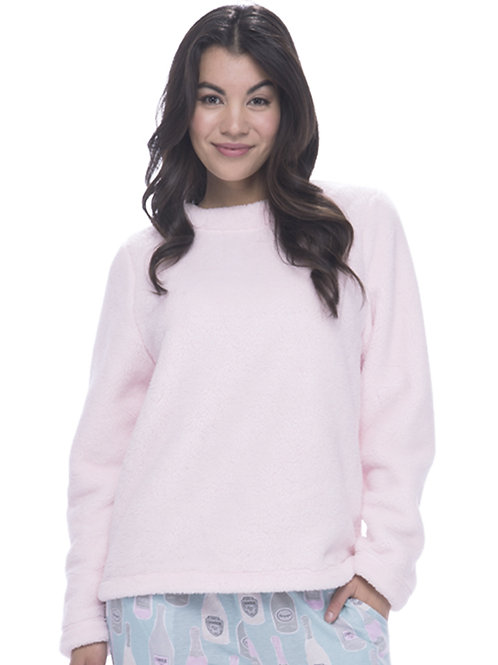 Pink Plush Pullover Top
