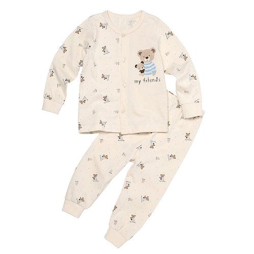 Organic Newborn Bear Pajamas