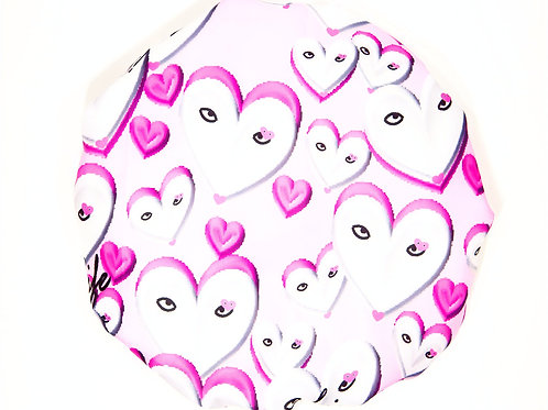 Spa/Shower Cap - Pretty Hearts