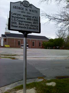 Restoration Project: George Henry White Highway Marker in New Bern, NC