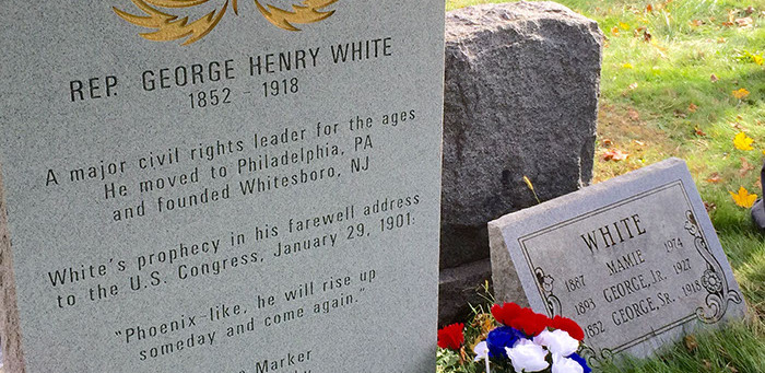 Headstone Dedication to Honor Congressman George Henry White, Early Civil Rights Leader